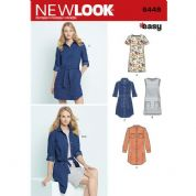 6449 New Look Pattern: Misses' Easy Shirt Dress and Knit Dress